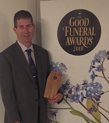 Funeral Celebrant, David Miles, winner of The Good Funerals Award Winner 2018