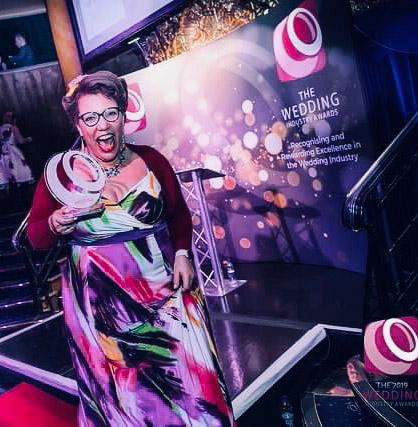 Michelle Taylor. Regional Winner 'Wedding Celebrant of the Year' The Wedding Industry Awards (TWIA) 2018