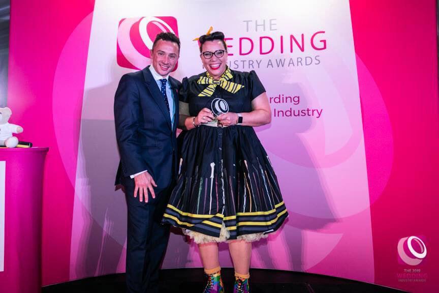 Wedding Celebrant of the year (TWIA 2019) winner Michelle Taylor